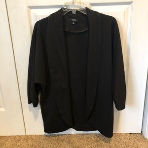 Black loose fit dress jacket in M soft and comfy